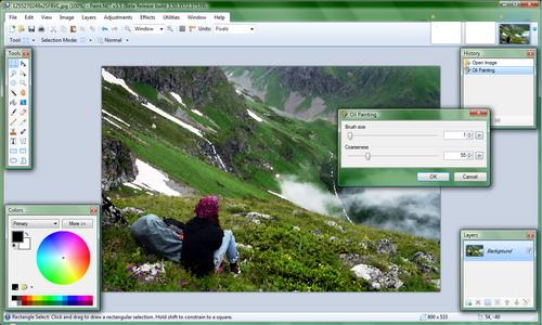 نمایی از نسخه 3.5 بتا Paint.NET