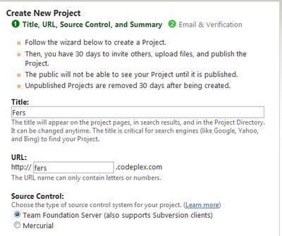 ایجاد یک پروژه جدید در کدپلکس