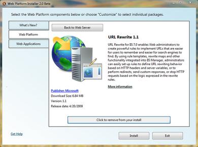 نصب URL Rewrite برای IIS 7.0