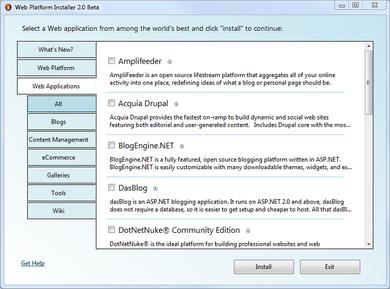 نصب اپلیکشن های تحت وب کدباز از داخل Web PI
