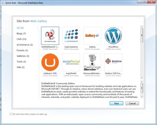 Microsoft Web Gallery